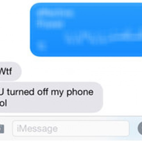 iPhone text bug teboots user's phone