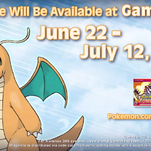Battle-ready Dragonite heading to Gamestop on June 22