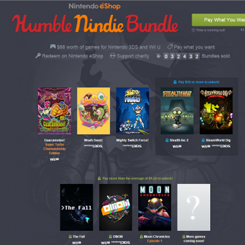 Humble Nindie Bundle offers 3DS and Wii U titles for cheap
