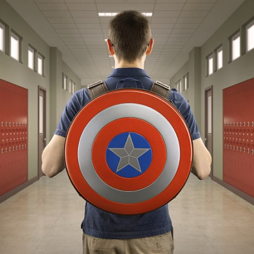 Feel like a hero with the Captain America shield backpack