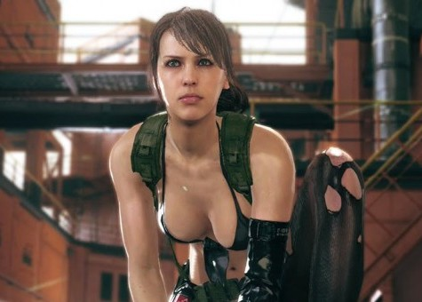 Metal Gears Creator Hideo Kojima Revealed A Figurine Of The Upcoming Gear Solid V Phantom Pains Controversial Heroine Quiet With Life Like