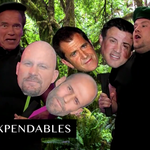 The Late Late Show with James Corden: Arnold Schwarzenegger's movies in SIX minutes!