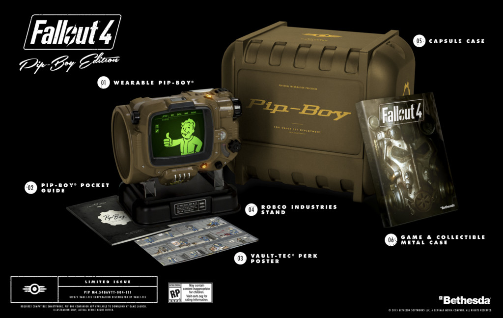 Fallout 4 ps4 pip boy edition.