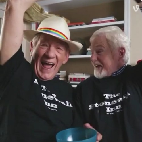 Same-sex marriage now legal; Party on with Ian Mckellen and Derek Jacobi