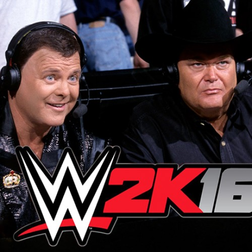 Jerry Lawler and Jim Ross do commentary for WWE 2K16's Stone Cold Attitude Era mode