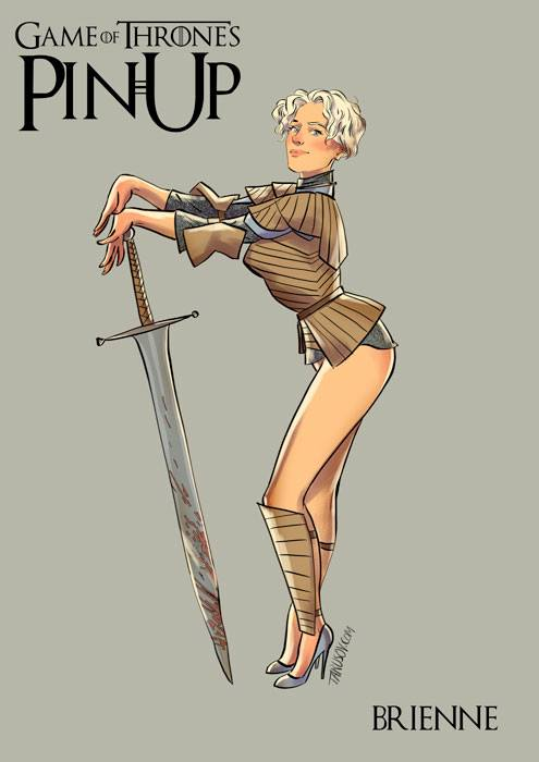 game of thrones pin-up poster - brienne