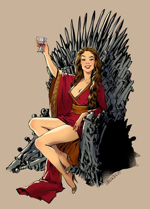 Game of Thrones characters as pin-up models (fan art ... | 502 x 700 jpeg 48kB