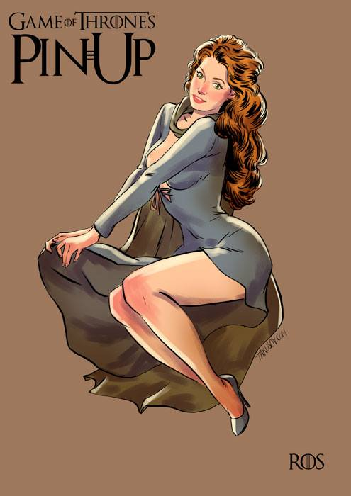 game of thrones pin-up poster - ros