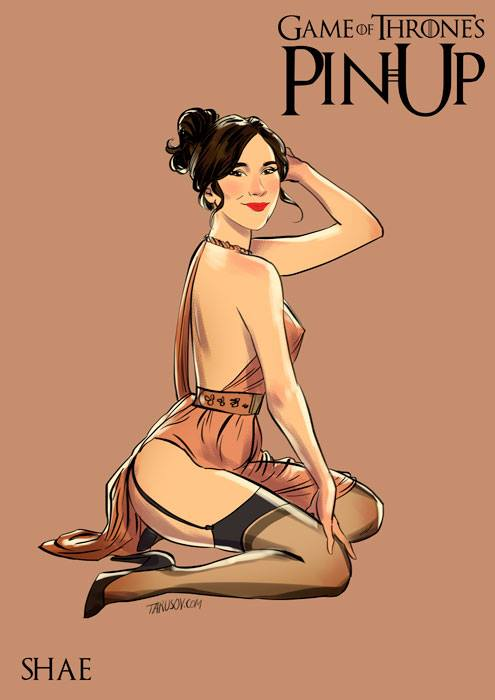 game of thrones pin-up poster - shae