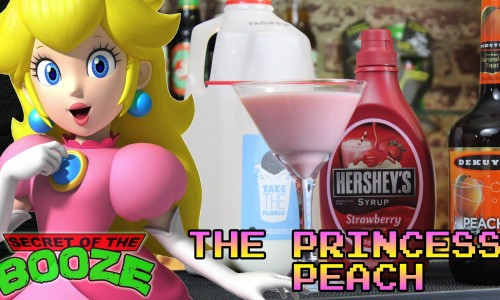 Drunkenly wander castles with a Princess Peach-inspired Martini