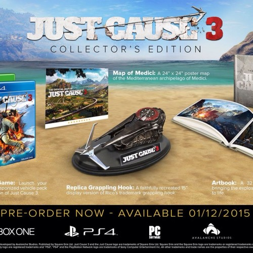 Grapple onto everything with the Just Cause 3 Collector's Edition