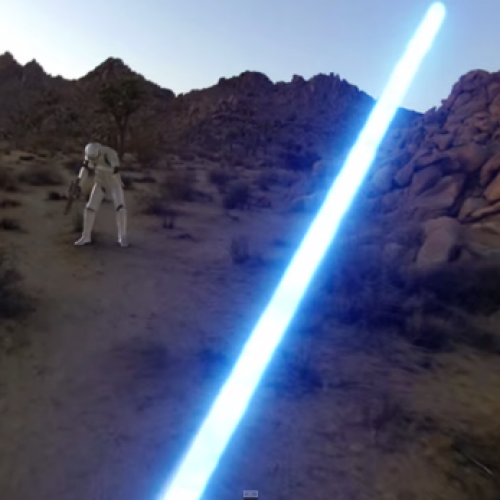 Jedi's with GoPros are as awesome as you can imagine