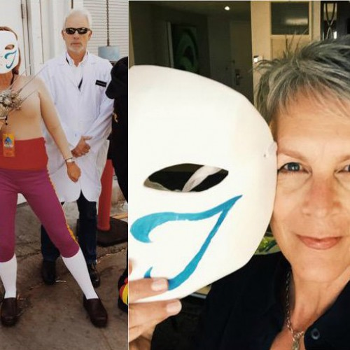 Jamie Lee Curtis cosplayed as Street Fighter's Vega at EVO 2015