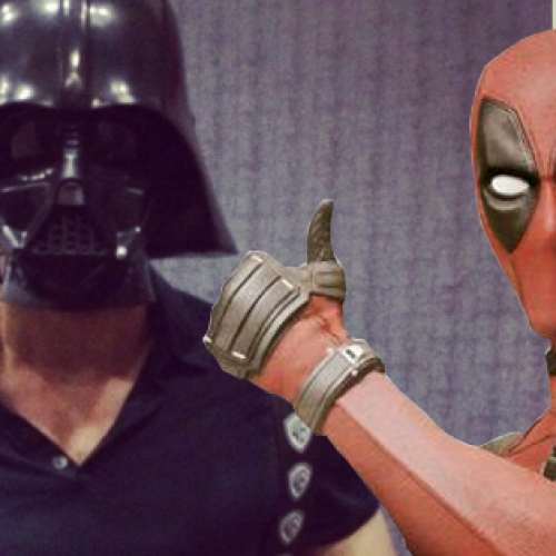 Ryan Reynolds walked around Comic-Con disguised as Darth Vader