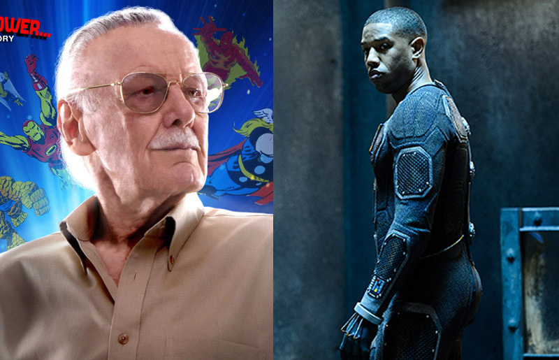 stan lee michael b jordan fantastic four