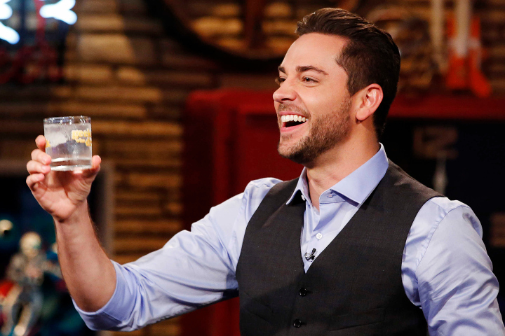TV STILL -- DO NOT PURGE -- GEEKS WHO DRINK -- Episode 105 -- Pictured: Zachary Levi -- (Photo by: Carol Kaelson/Syfy)