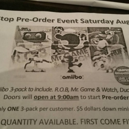 GameStop taking pre-orders for amiibo 3-pack this Saturday