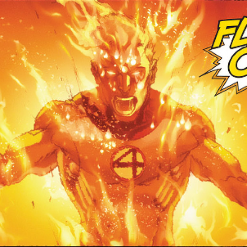 The Human Torch spotted in New York!