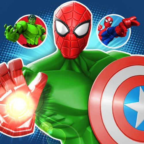 Disney's Mix & Smash: Marvel Super Hero Mashers app has you blending your favorite heroes
