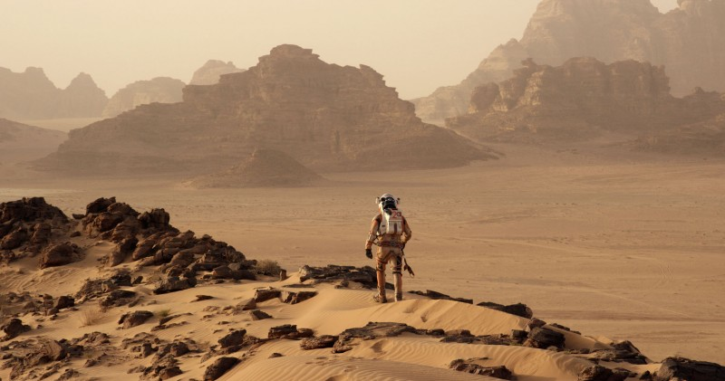 Matt Damon is an astronaut who finds himself stranded and alone on a hostile planet.