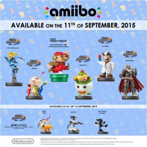 Next wave of Amiibo are releasing on September 11