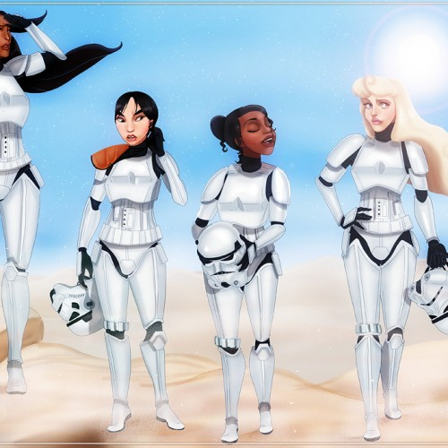 Disney Princesses and Villains look great as Star Wars characters