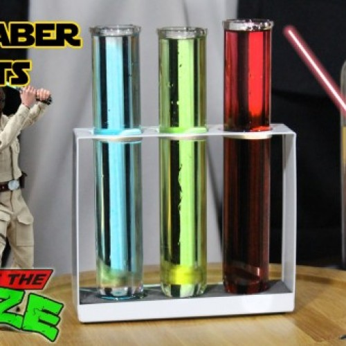Star Wars-themed shots – Lightsaber Shots