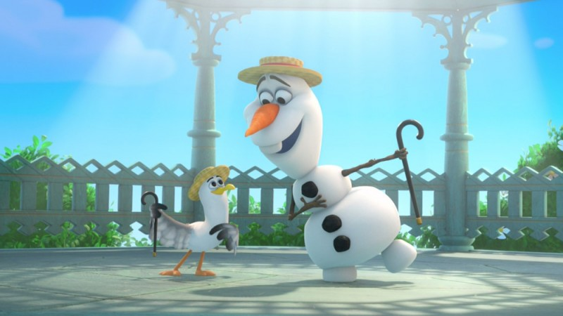 Olaf-looking-at-seagull-in-Frozen-1000x562