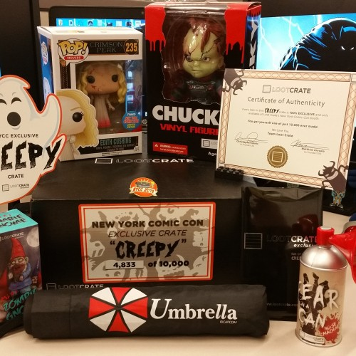 Loot Crate's Exclusive NY Comic-Con 'Creepy' box does not disappoint!