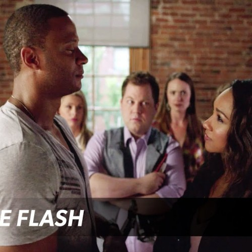 Arrow's David Ramsey challenges The Flash's Candice Patton in 'Guitar Hero Live'