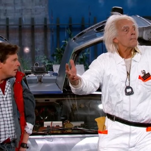 Doc Brown & Marty McFly travel to Jimmy Kimmel Live