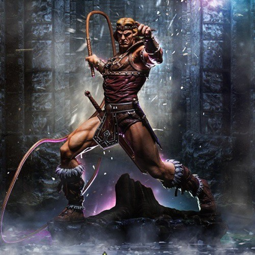 Simon Belmont statue from First 4 Figures: Whip it good