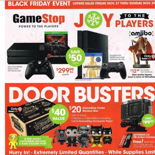 GameStop's Black Friday ads leaked early