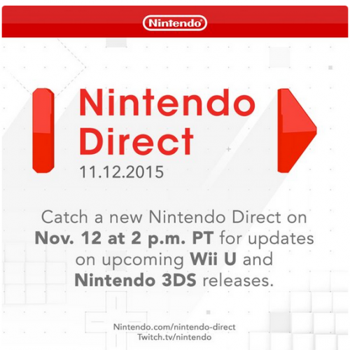 Nintendo Direct happening on November 12