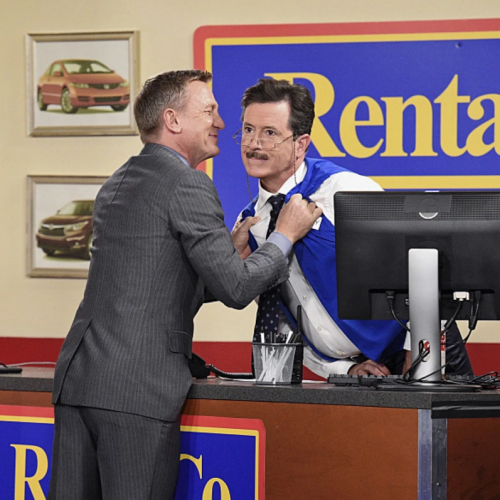 Daniel Craig and Stephen Colbert: What if James Bond had to go to a car rental?