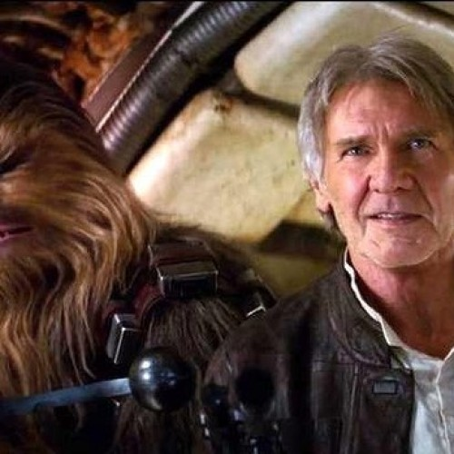 Harrison Ford and Chewbacca work things out on Jimmy Kimmel