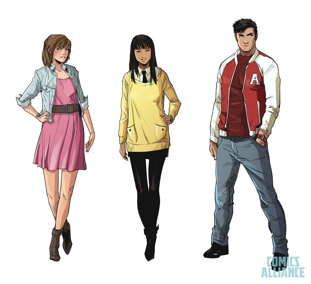 Character Design For Comic Books : Boom comics mighty morphin power rangers character