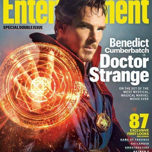 Benedict Cumberbatch in full Doctor Strange garb!