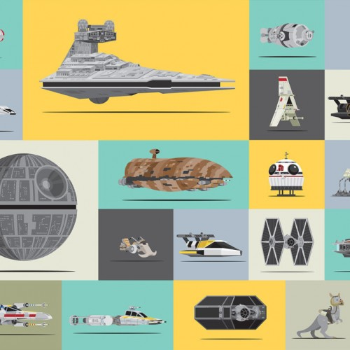 Every vehicle from the Star Wars original trilogy to scale