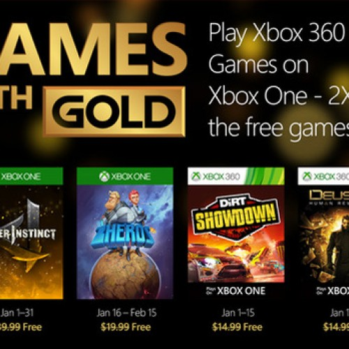 Your free Xbox Games with Gold in January