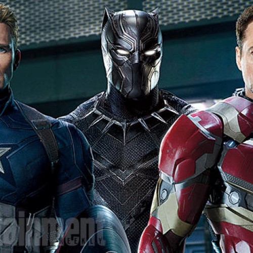 Black Panther fights Captain America in Civil War promo art