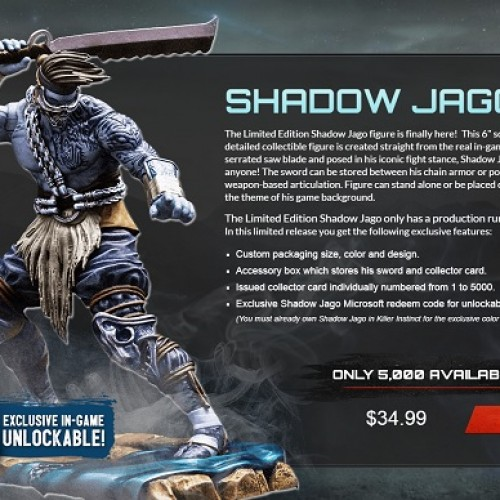 Limited Edition Killer Instinct Shadow Jago 6″ figure available for pre-order