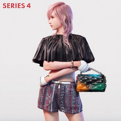 Final Fantasy's Lightning models for Louis Vuitton