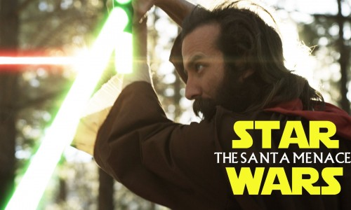 Santa fights Jesus over Christmas… with lightsabers