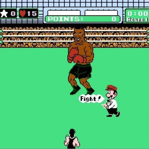 Little Mac K.O.s Mike Tyson on a pink 'hoverboard'