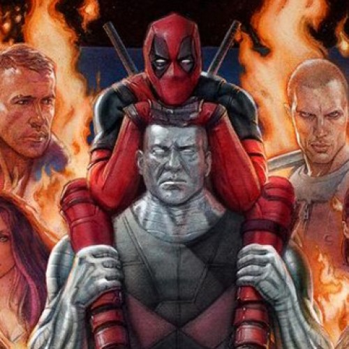 Deadpool hops on Colossus in IMAX poster