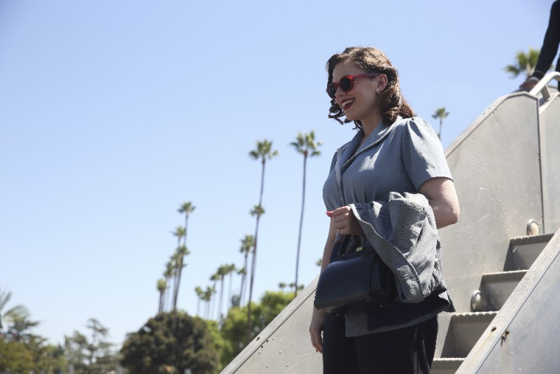 """MARVEL'S AGENT CARTER - """"The Lady in the Lake"""" - In the season premiere episode, """"The Lady in the Lake,"""" Peggy moves to the City of Angels to help Chief Daniel Sousa at the West Coast Strategic Scientific Reserve (SSR) investigate a bizarre homicide involving an alleged killer and Isodyne Energy, and reunites with some familiar faces. """"Marvel's Agent Carter"""" returns for a second season of adventure and intrigue, starring Hayley Atwell in the titular role of the unstoppable agent for the SSR (Strategic Scientific Reserve), TUESDAY, JANUARY 19 (9:00-10:00 p.m. EST) on the ABC Television Network. (ABC/Patrick Wymore) HAYLEY ATWELL"""