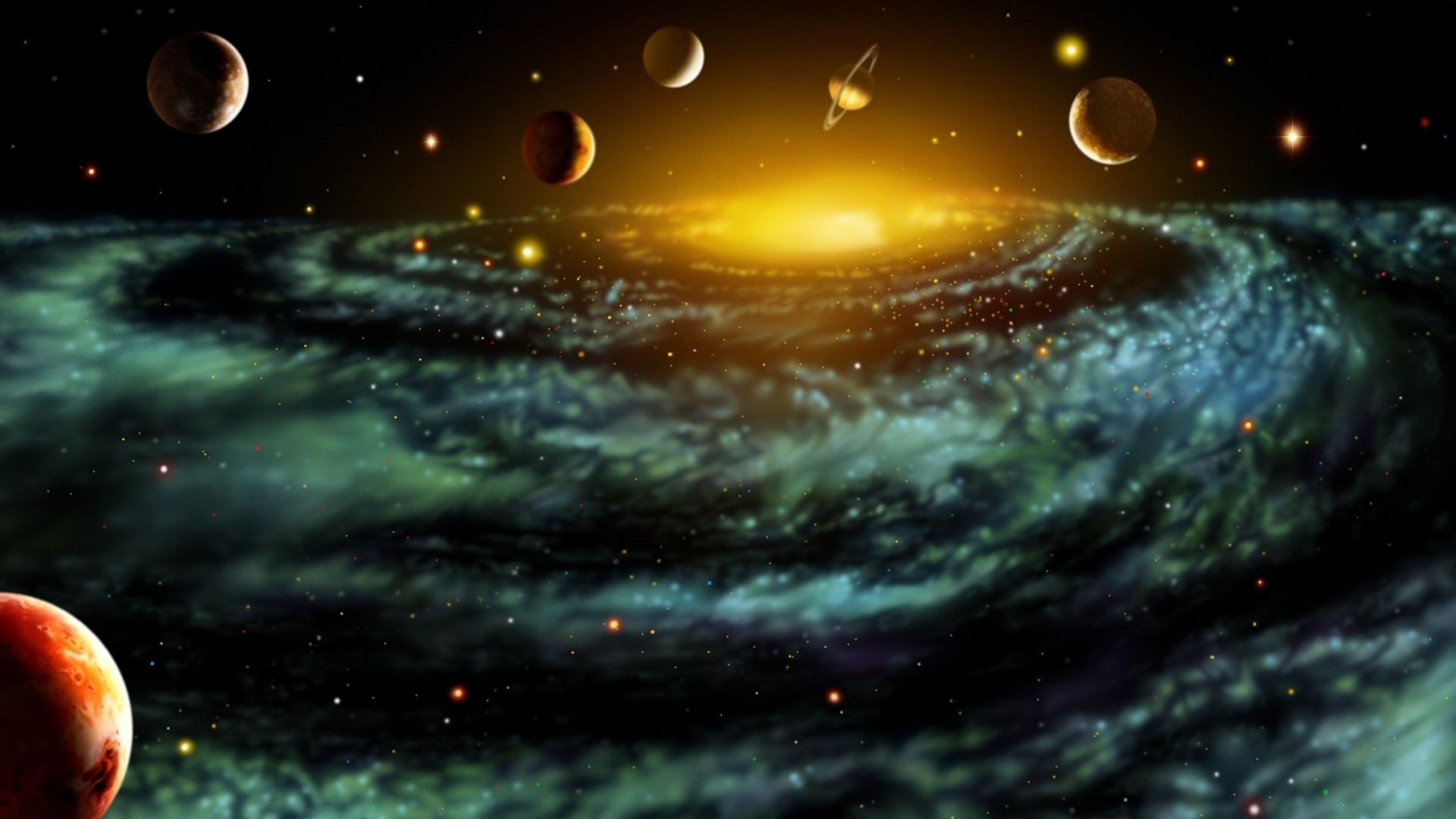 Various Planets Sci Fi Image