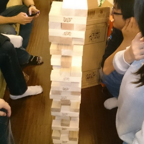 It's Jenga only… Giant