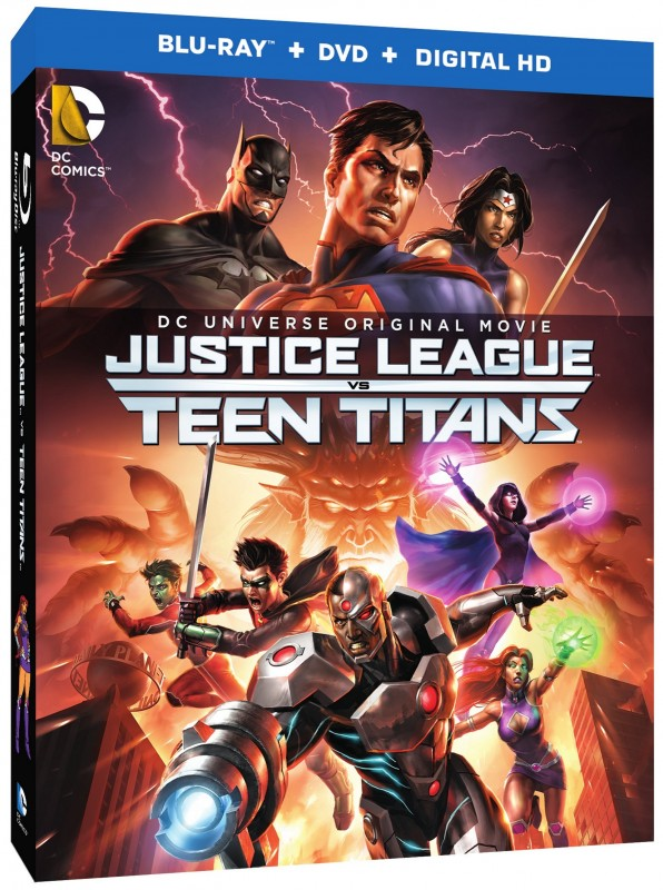 justice league vs teen titans BD Combo 1